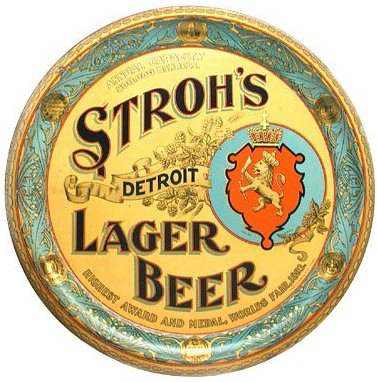 Stroh's Lager Beer
