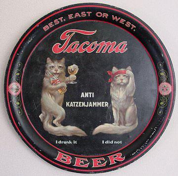 Tacoma Cats Beer Tray