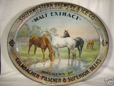 Southwestern Brewery & Ice Co., Albuquerque N. Mex., Malt Extract, Brewers of Culmbacher Pilsner & Superior Beers, Ice